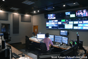 WHAM-TV control room