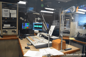 WBAL radio news studio