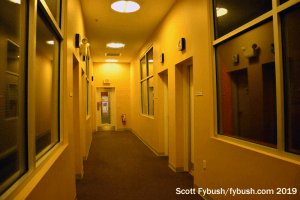 FM studio hallway