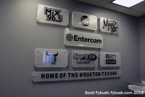 Former lobby signage