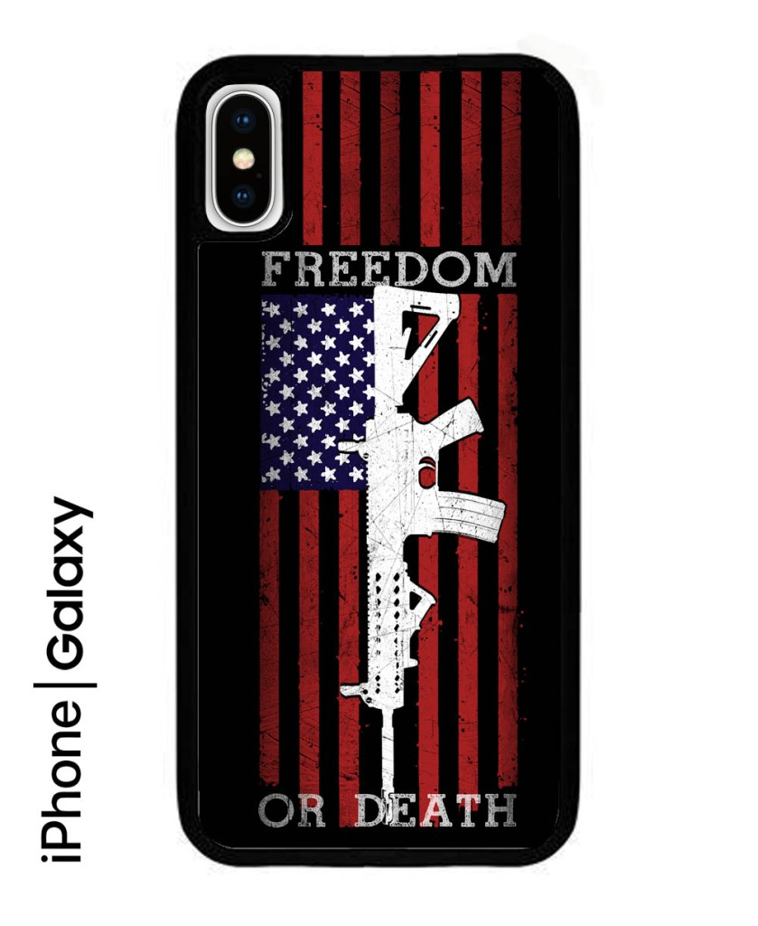 freedom-or-death-ar15-iPhone-X-fydaq