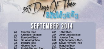 It's September and Time for Another #365DaysOfTheo Challenge