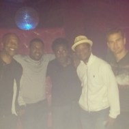 Theo James and Mekhi Phifer have a boys night out