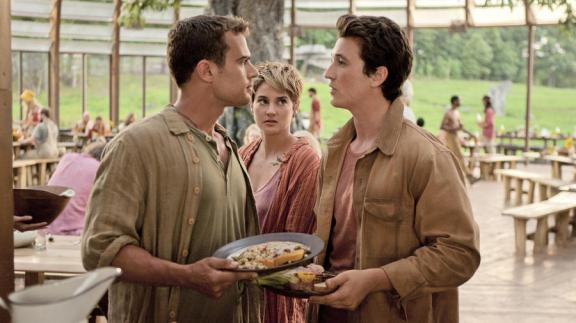 Theo James, Shailene Woodley, and Miles Teller in The Divergent Series: Insurgent