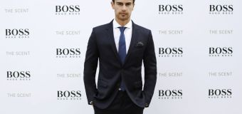 """Theo James Unveils New Hugo Boss Fragrance """"The Scent"""" in Barcelona"""