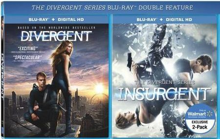 walmart insurgent bluray double feature