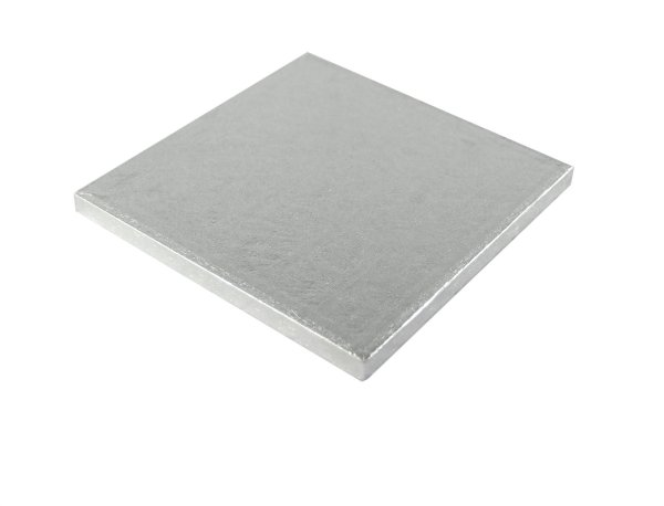 Silver Square Cake Drum Board 12mm Thick