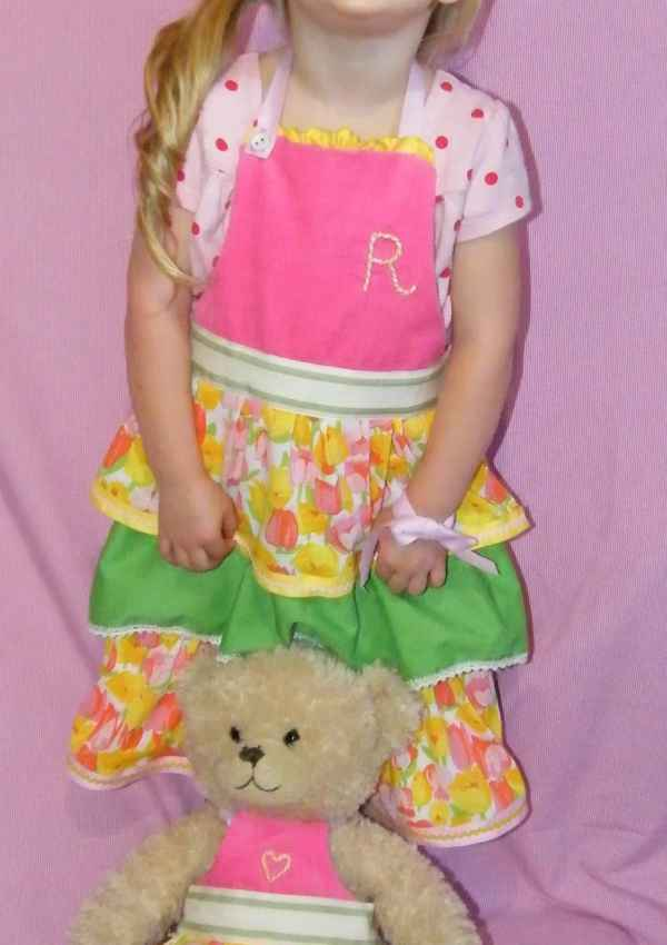 Toddler and Teddy Apron Tutorial- May Arts Finalist Submission
