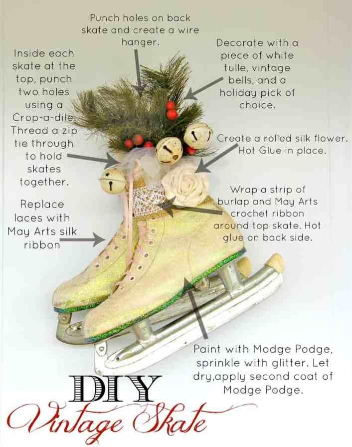 How to create a vintage skate door hanger. From fynesdesings.com