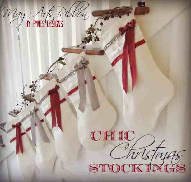 Chic Christmas Stockings from fynesdesigns.com