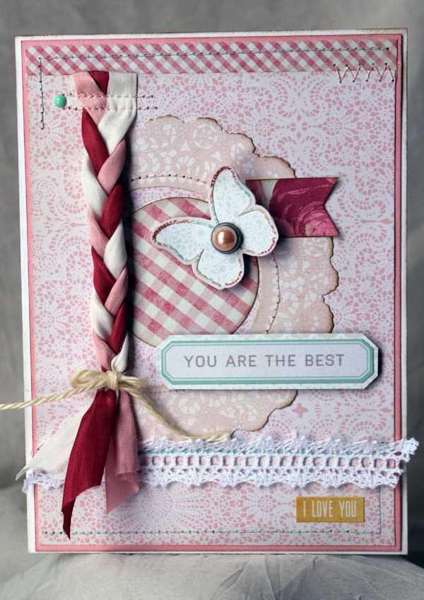 May Arts and CardMaker Blog Hop- Feminine Valentine Card