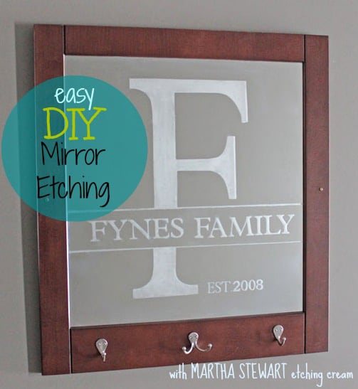 Easy Mirror Etching with Martha Stewart Crafts, a tutorial featured by top US craft blog, Fynes Designs: how to etch glass or mirror- important tips to get professional results