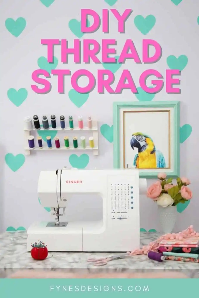How to make a DIY thread rack. Organize your thread with this cheap handmade thread storage solution