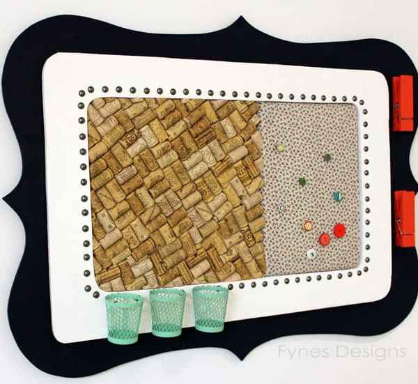 Frugal Craft Room Cork Board