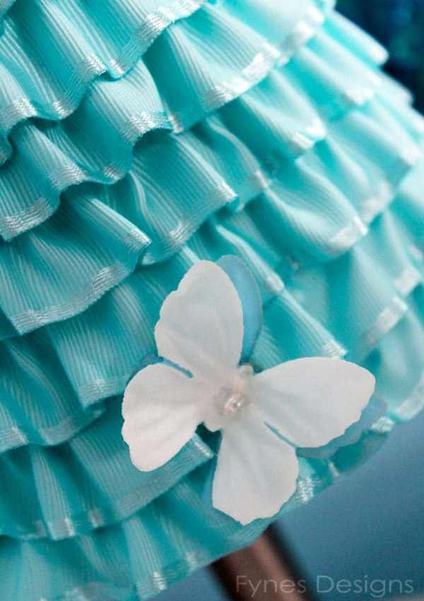 DIY Ribbon Lamp Shade for 'Light It Up Blue'