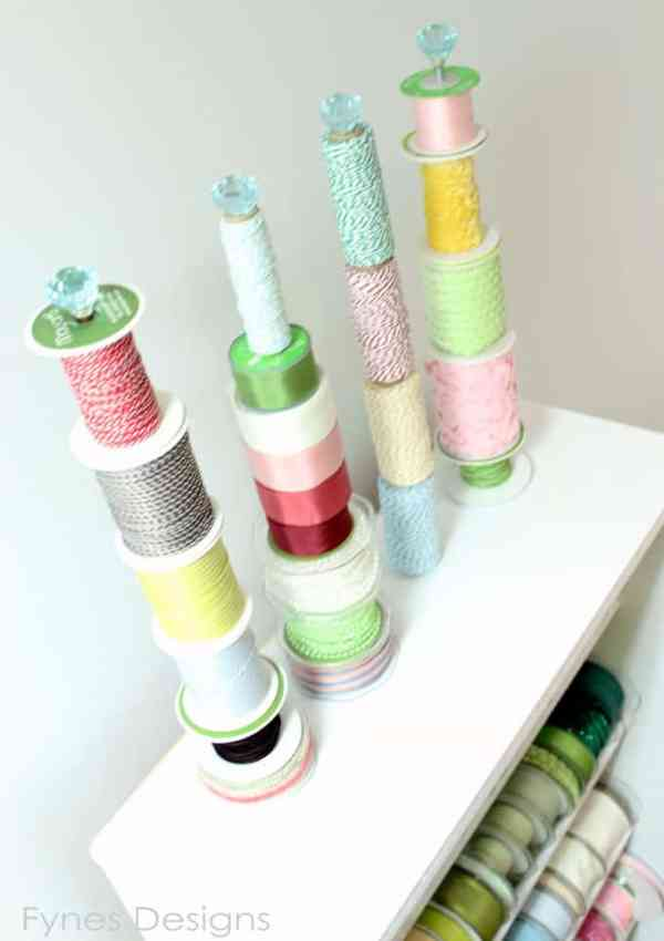 DIY Ribbon Storage Rack Tutorial