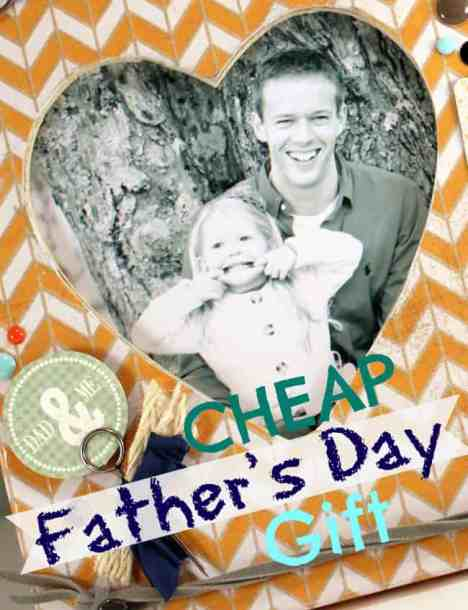 Make a fathers Day photo frame from a $1.50 wooden #Michaels frame