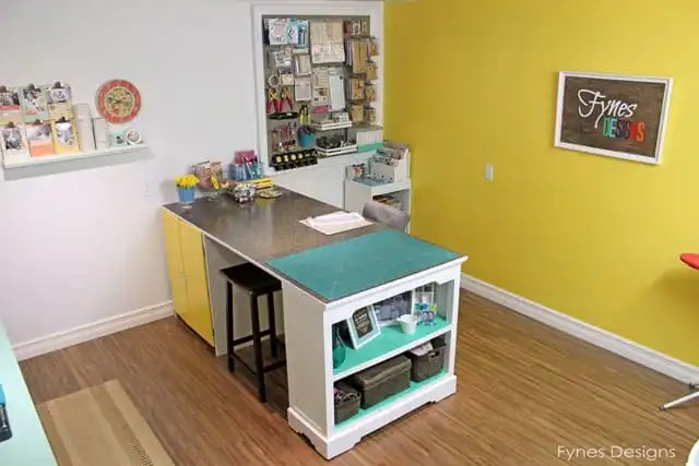 Beautiful craft room workspace