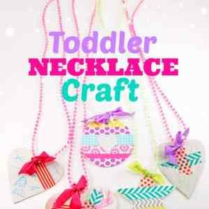 fun craft that little ones can create their own pendant