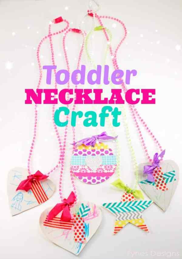 Toddler Craft Project- Bead Necklaces