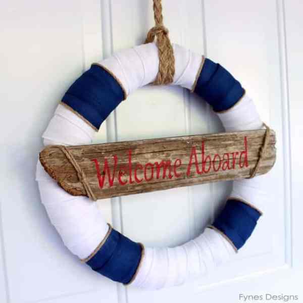 ocean inspired wreath
