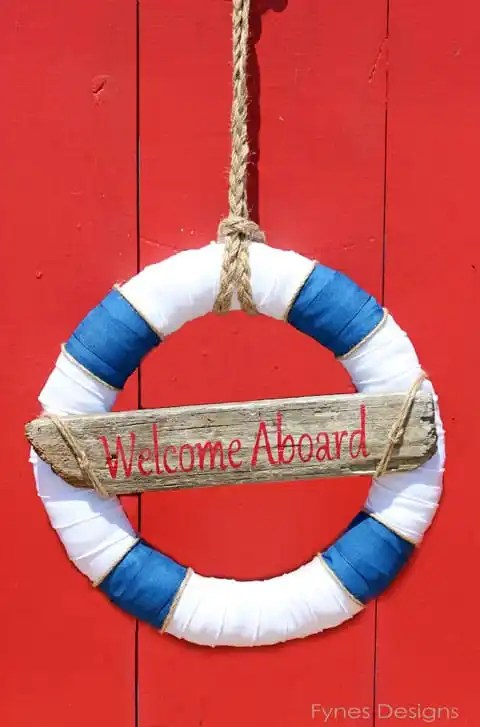 Welcome Aboard wreath #nautical #wreath #beach #summer #ocean