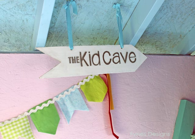 Kid cave in the playhouse