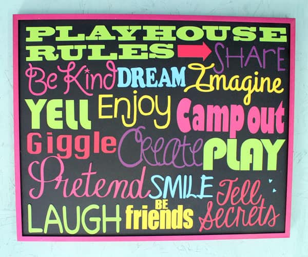Playhouse Rules
