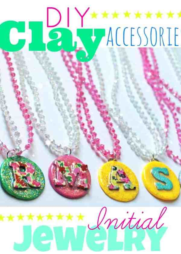 Kids DIY Clay Initial Jewelry