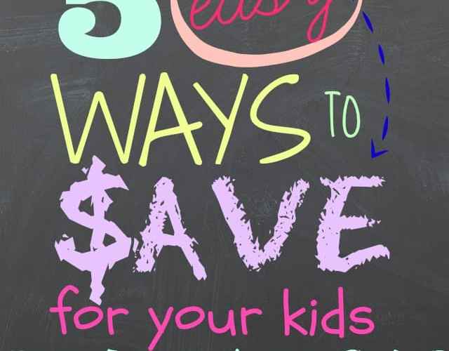 5 ways to save for your child's education from Fynes Designs