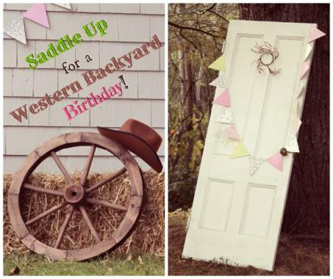 Western Backyard Birthday Party- loads of Great ideas for your little cowgirls and boys!