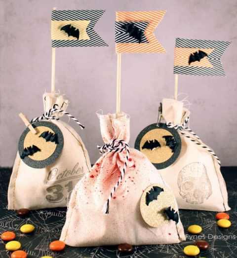 Muslin Halloween Treat bags