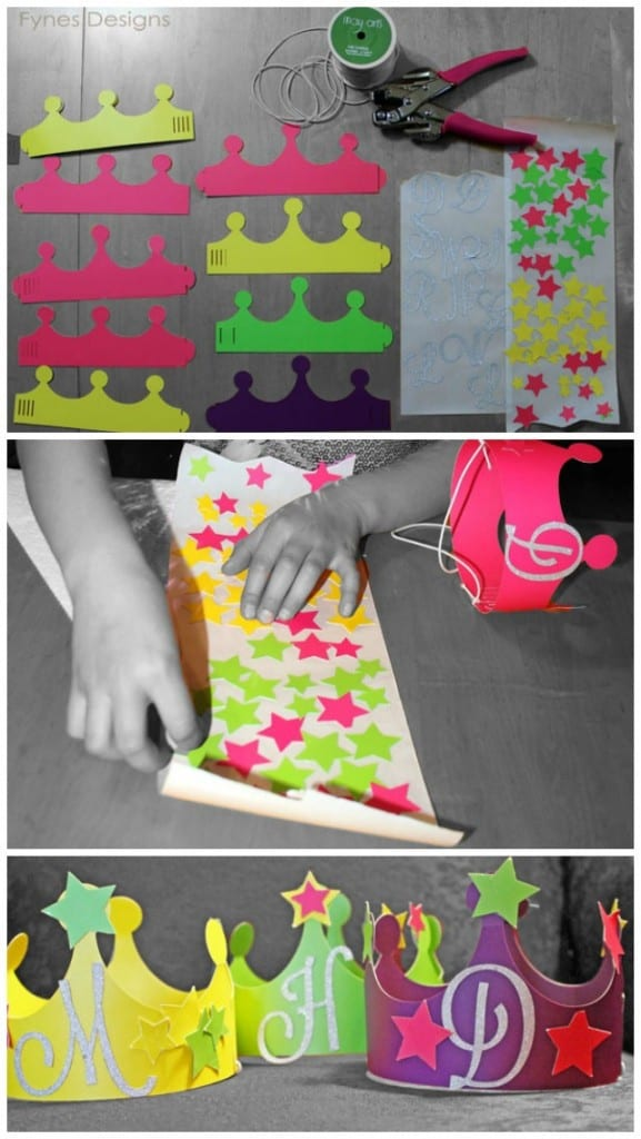 How to make Princess Party Crowns- Perfect for small children NO SCISSORS & NO GLUE to make. Quick and easy!