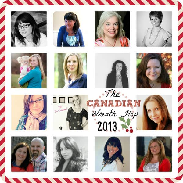 Canadian craft bloggers bring you a wreath hop |Joy Sign by popular DIY Canada blog: collage image of various Canadian influencers.