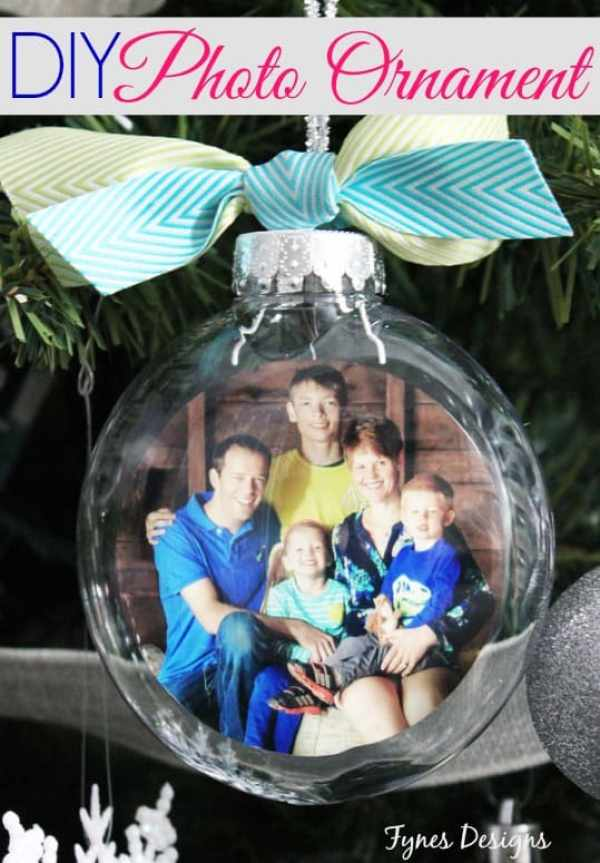 DIY Glass Photo Ornament, a tutorial featured by top US life and style blog, Fynes Designs: Easy DIY photo ornaments. Great tutorial with step by step photos.