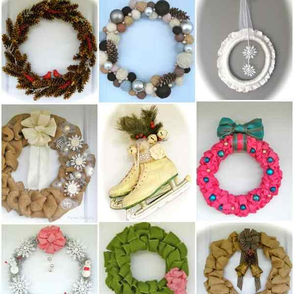 12 MUST See Holiday Door Decor ideas from fynesdesigns.com
