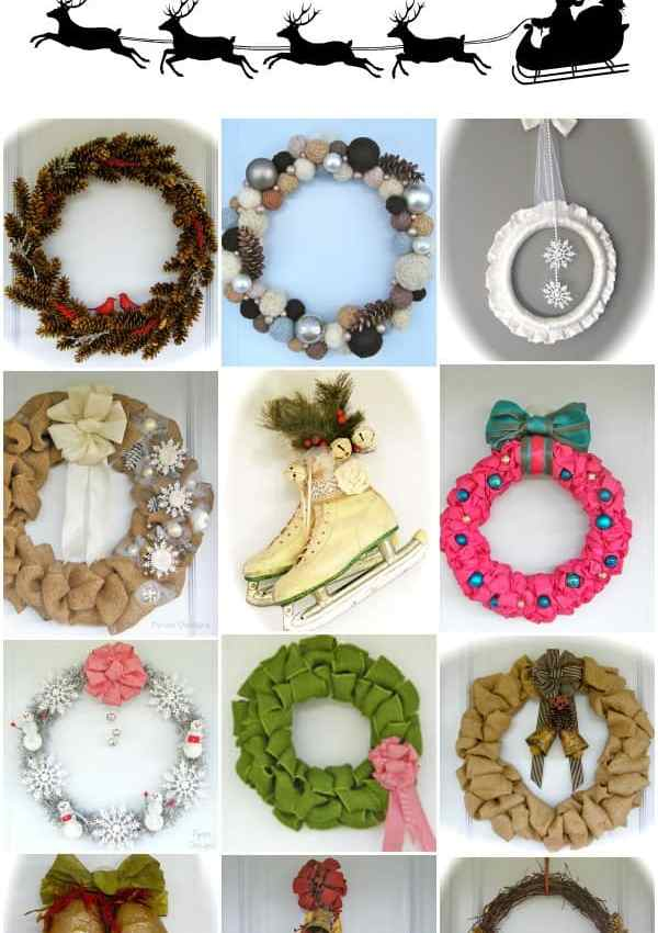 12 MUST See Holiday Door Decor ideas from fynesdesigns.com