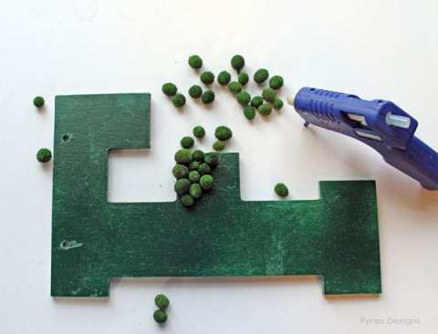 glue beads to letter
