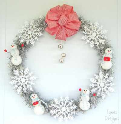 Sparkly Snowmen Wreath