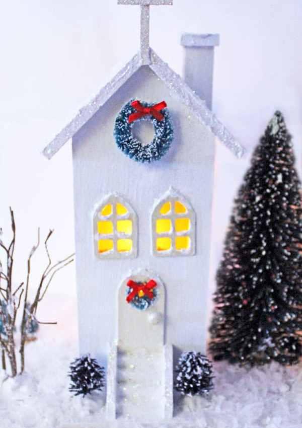 Easy DIY Christmas Village