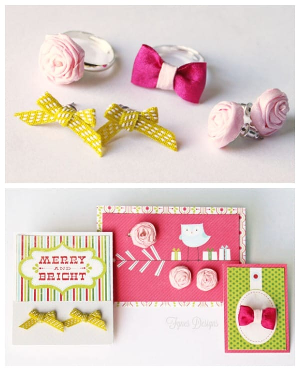 Quick and Easy Handmade Ribbon Jewellery from fynesdesigns.com