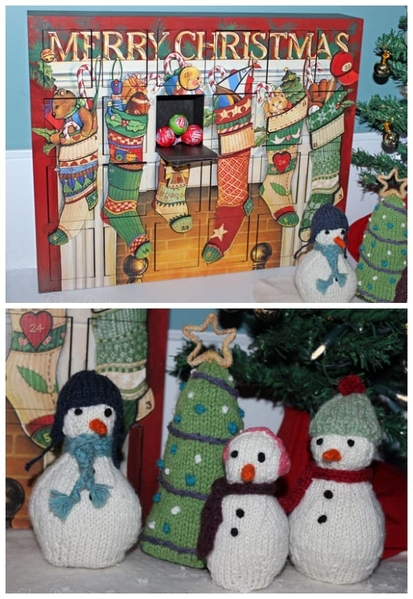 advent calendar and knit snowmen from fynesdesigns.com