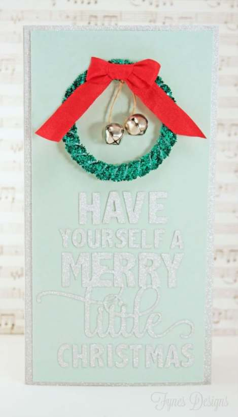 Make this ribbon #holiday wreath by cutting a paper circle and wrapping in ribbon- Too easy!