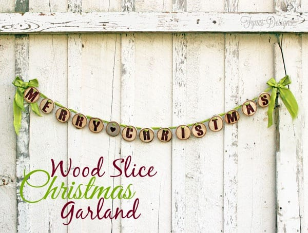 """Merry Christmas"" Wood Slice Garland"