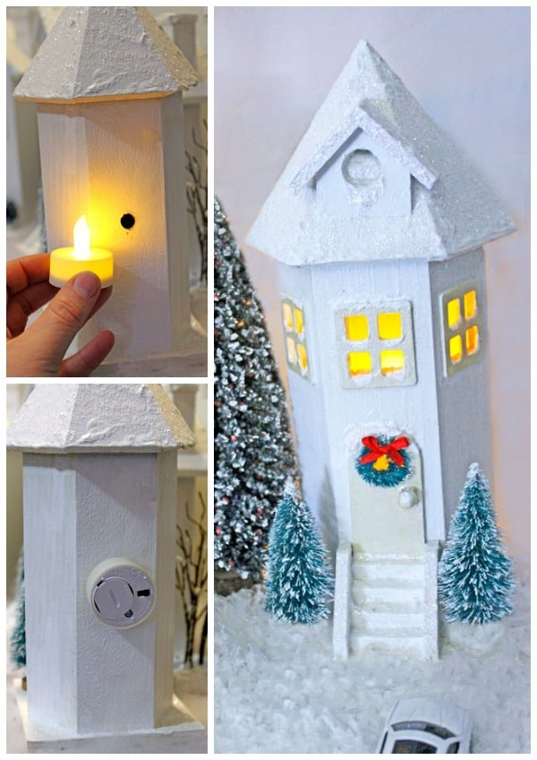 tealight-light-village Paint Designs Easy Diy Bird House on crooked bird houses, artistic bird houses, easy bird house designs, diy recycled bird houses,
