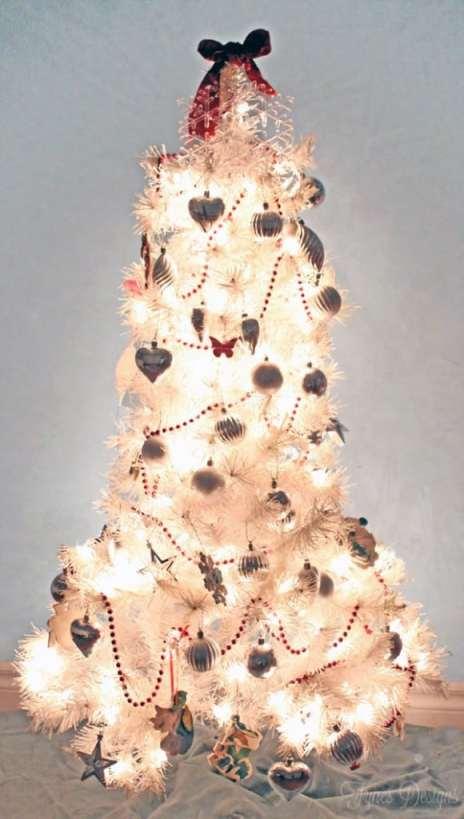 White kids Christmas Tree