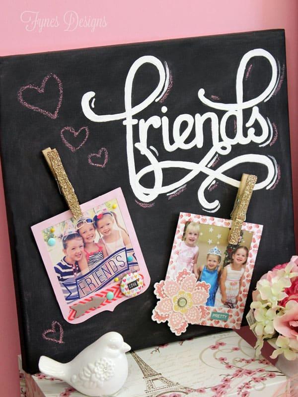 Friends chalkboard instagram canvas via fynesdesigns.com
