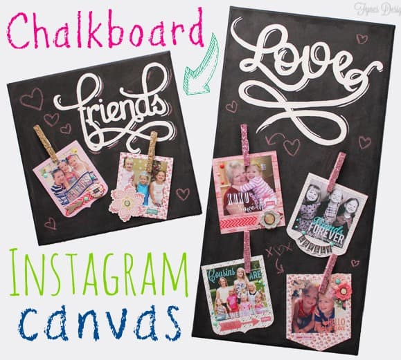 Instagram Photo Chalkboard Canvas