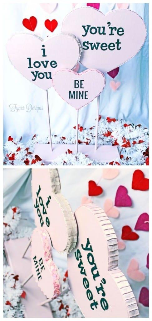 Wooden Conversation Love Hearts #valentinesday #love #heart #diy #