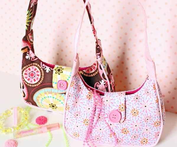 Free girls purse sewing pattern